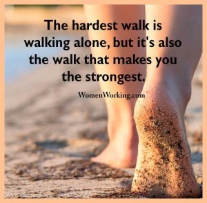 walking alone is strongest path