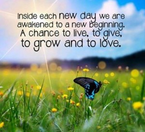 New day, new beginning.